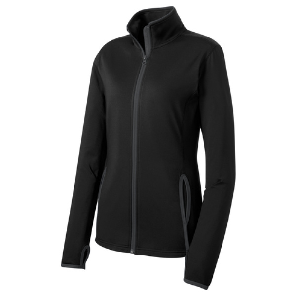 Black Ladies Full Zip Performance Jacket