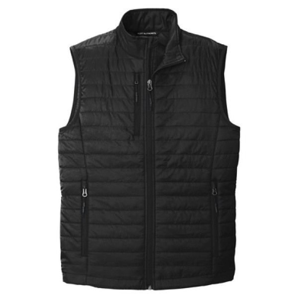 Black Men's Puffy Vest