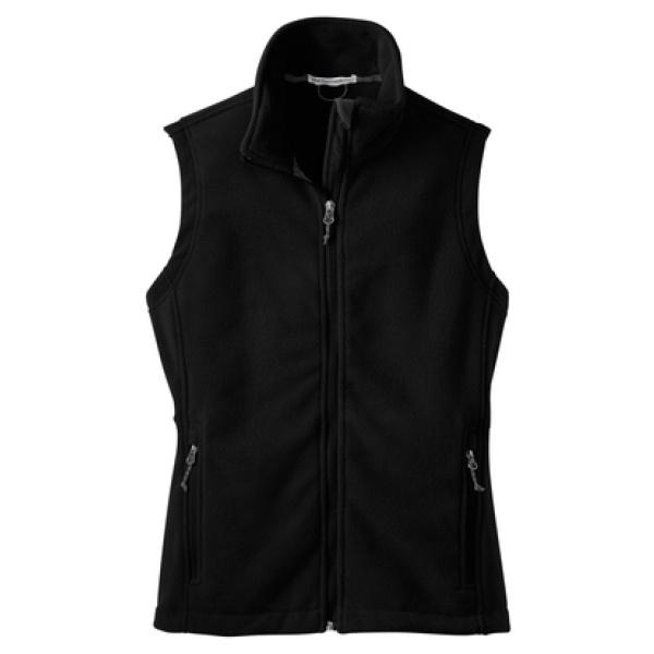 Black Women's Fleece Vest