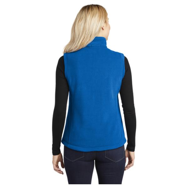 Ladies Fleece Vest Back