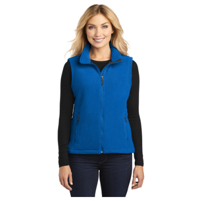 Ladies Fleece Vest Front