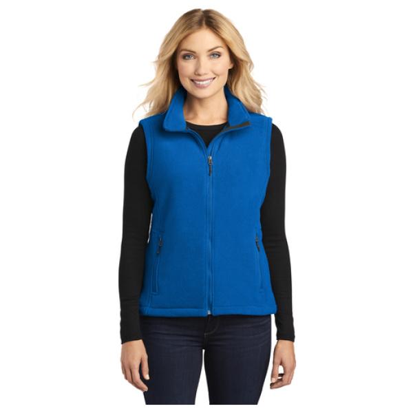 Ladies Fleece Vest Front