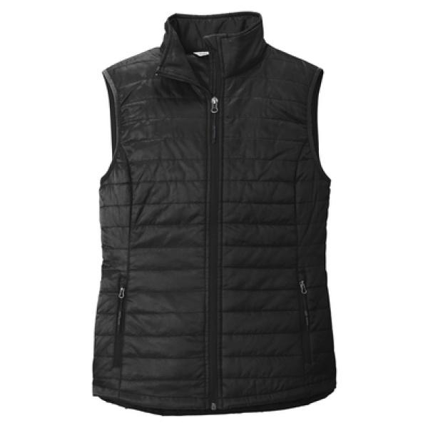 Black Ladies Puffy Vest