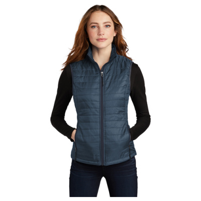 Ladies Puffy Vest Front