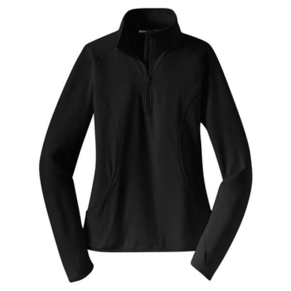 Black 1/4 Zip Pullover Ladies