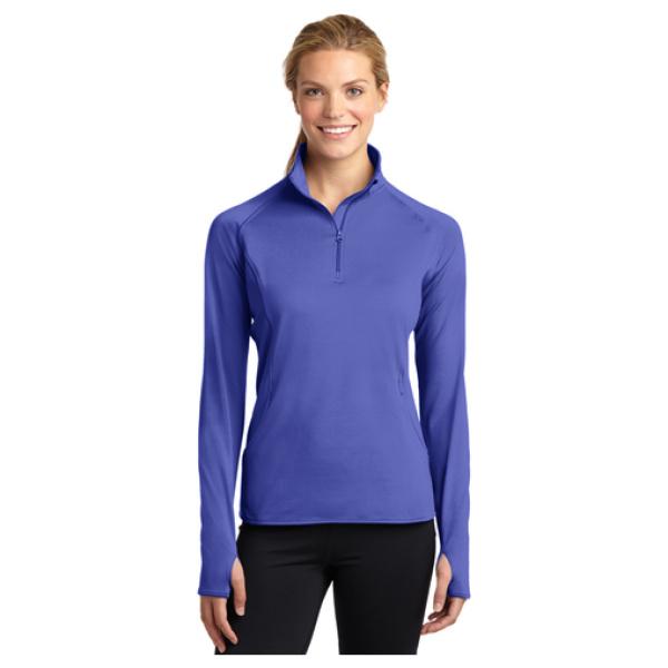 Ladies 1/4 Zip Pullover Front