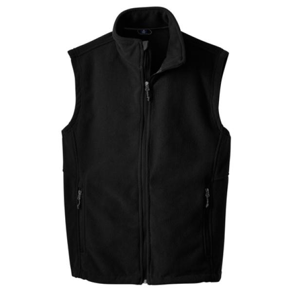 Black Mens Fleece Vest