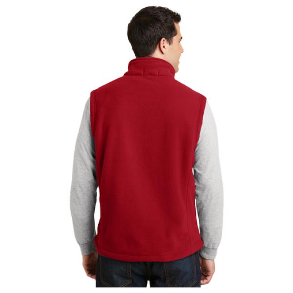 Mens Fleece Vest Back