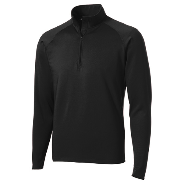 Black 1/4 Zip Men's Pullover